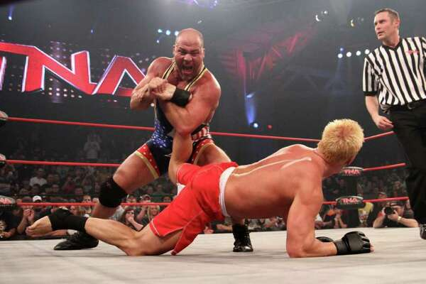 TNA superstars Kurt Angle will compete in the TNA Impact Wrestling World Tour on Thursday, Jan. 12 at Toyota presents the Oakdale Theatre in Wallingford.