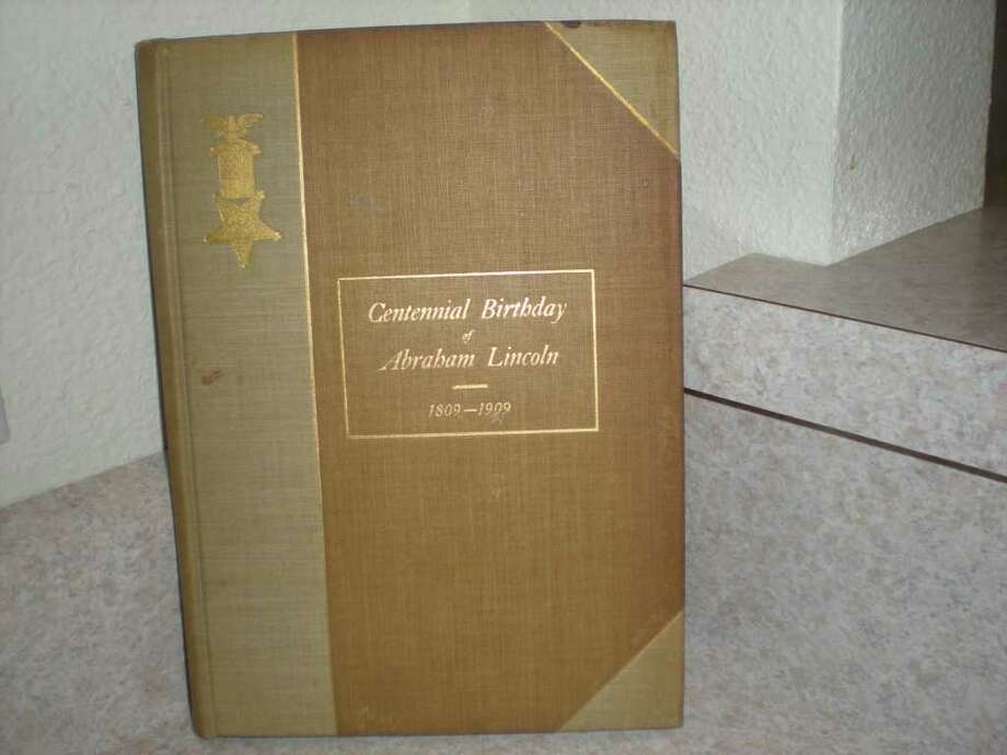 A book celebrating the centennial of Abrahma Lincoln was published by the Grand Army of the Republic. Photo: Courtesy Patricia S. Gray