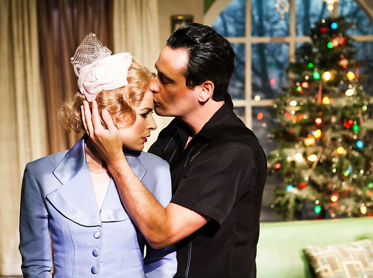 New bride Isabel (MacKenzie Meehan) and her husband's war buddy Ralph (Johnny Moreno) share a potentially inappropriate moment in Tennessee Williams'