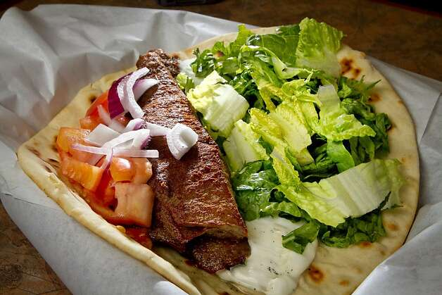 The Gyros Wrap at the Petra Cafe in Orinda, Calif., is seen on Thursday, December 29th, 2011. Photo: John Storey, Special To The Chronicle
