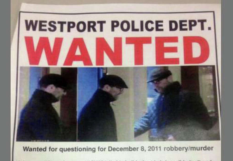 """A """"Wanted"""" poster from the Westport Police Department shows the suspect in the robbery and killing of Westport jeweler Yekutiel Zeevi. Photo: Contributed Photo / Westport News contributed"""