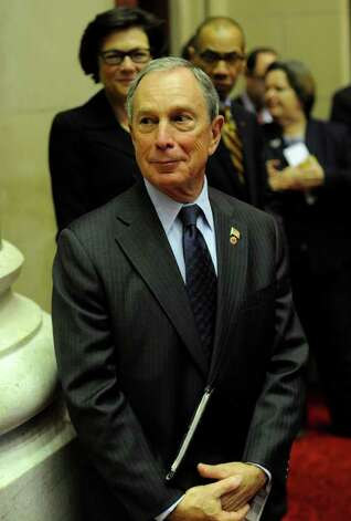 New York City Mayor Michael Bloomberg visits the Assembly session before going to the Convention Center in the Empire State Plaza  in Albany, N.Y. to hear The Governor's Annual State of the State message Jan. 4, 2011.   (Skip Dickstein / Times Union) Photo: SKIP DICKSTEIN / 10015982A