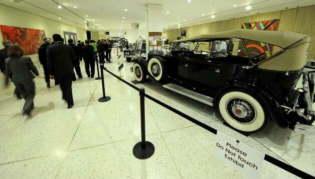 Historic vehicles line the concourse of the Empire State Plaza on The Governor's Annual State of the State message day Jan. 4, 2011.   (Skip Dickstein / Times Union) Photo: SKIP DICKSTEIN / 10015982A