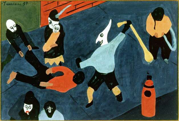 """Street Scene"" by Jacob Lawrence, from the Harmon and Harriet Kelley Foundation for  the Arts, is part of a ""San Antonio Collects"" exhibit at the San Antonio Museum of Art. Photo: Courtesy San Antonio Museum Of Art"