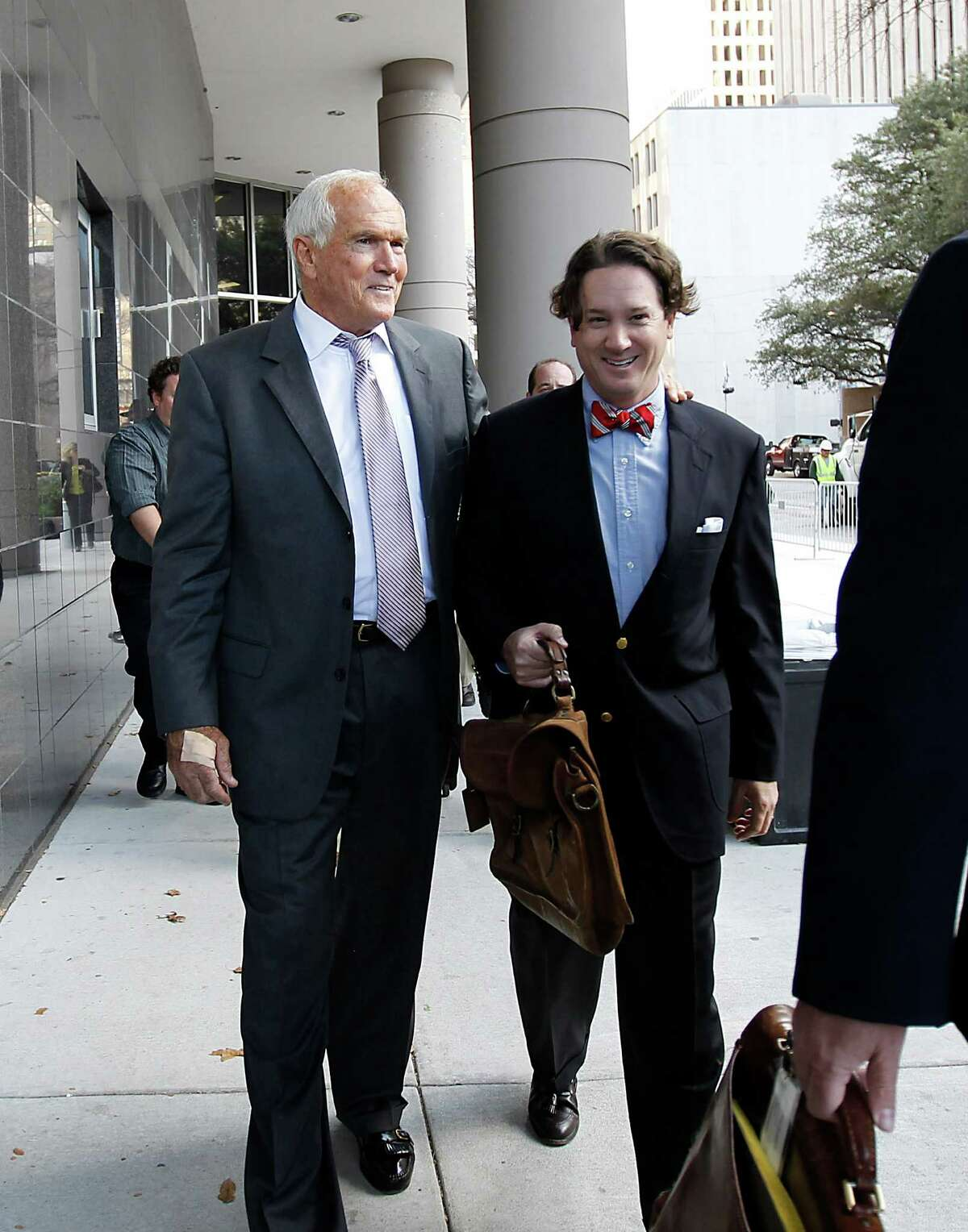 Former Harris County Commissioner Jerry Eversole leaves the Federal Courthouse, Wednesday, Jan. 4, 2012, in Houston. Eversole was given three years probation for pleading guilty to making false statements to FBI agents, which was a felony. ( Karen Warren / Houston Chronicle )