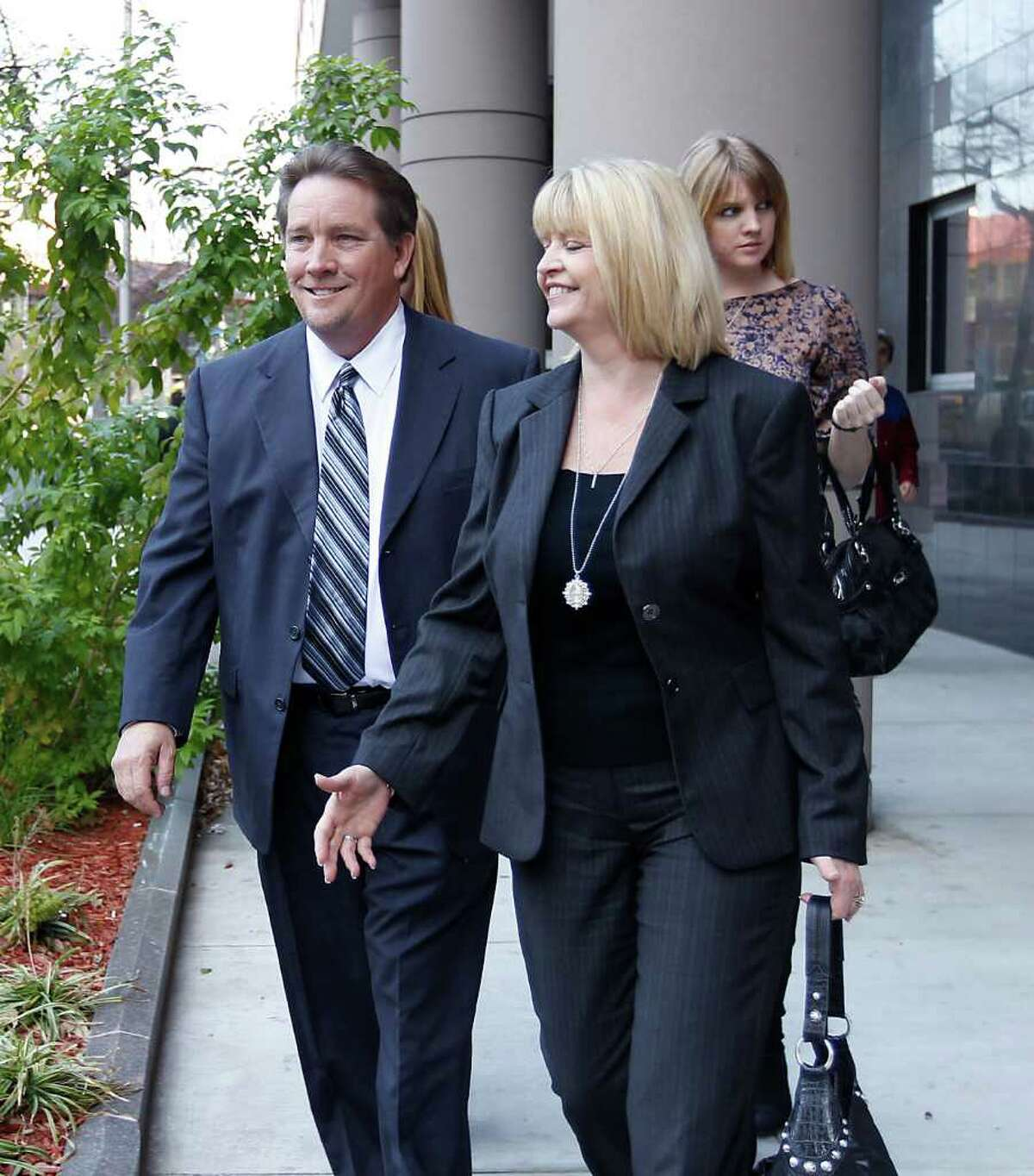 Michael Surface leaves the Federal Courthouse after being handed a sentence of three years probation for making false statements to FBI agents.