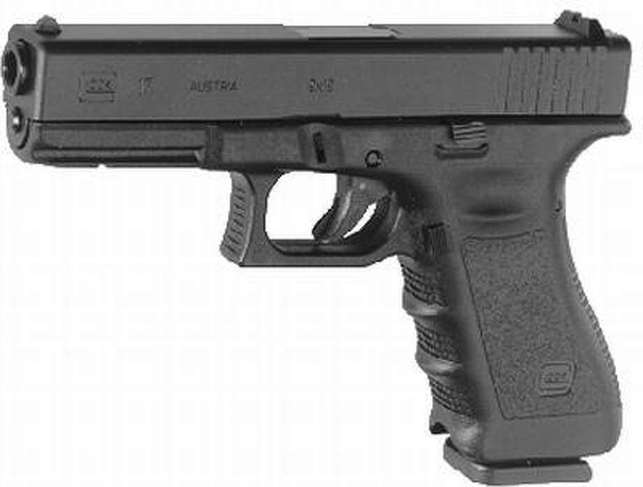 This photo shows a Glock 17 pistol. Photo: Associated Press