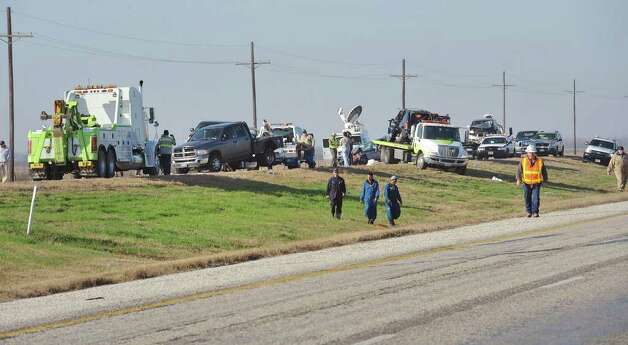 Texas 73 was closed until around noon Thursday after a large scale accident sent more than 50 people to the hospital.  No fatalities were reported from the accident. Photo taken Thursday, January 5, 2012 Guiseppe Barranco/The Enterprise Photo: Guiseppe Barranco, STAFF PHOTOGRAPHER / The Beaumont Enterprise