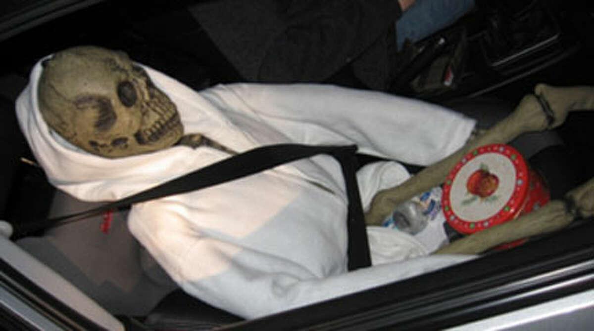 The kind of carpool passenger who keeps to himself. Photo: Washington State Patrol.