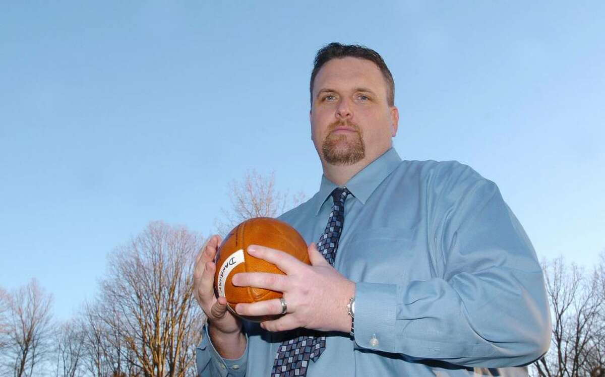 Dan Donovan, football coach for Danbury High School photographed February 17, 2009.
