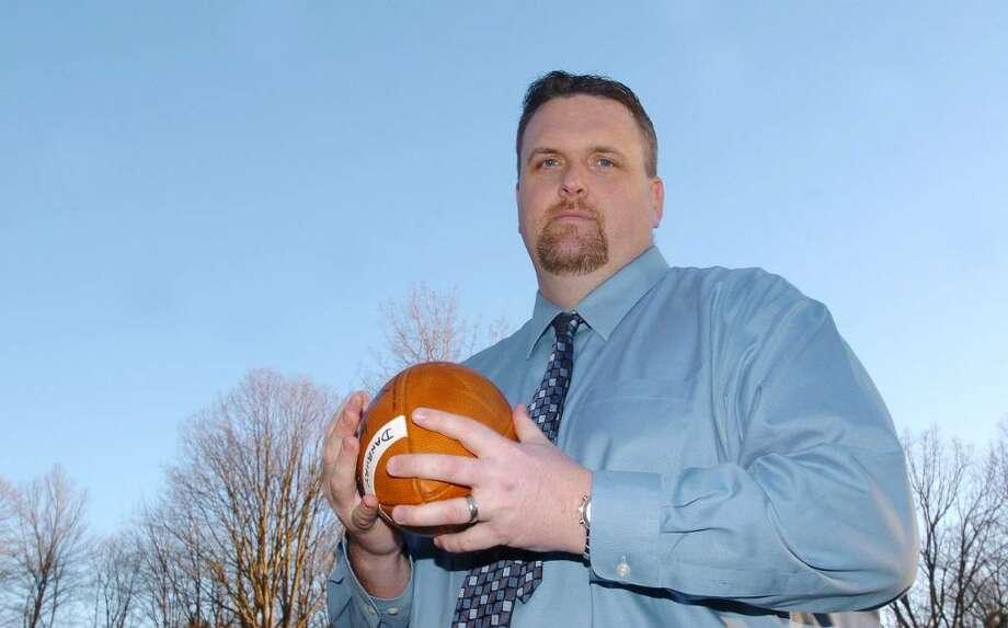 Dan Donovan, football coach for Danbury High School photographed February 17, 2009. Photo: Chris Ware / The News-Times