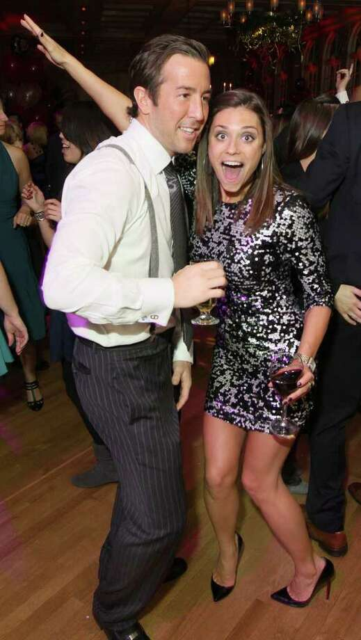Troy, NY - Decmebr 31, 2011 - (Photo by Joe Putrock/Special to the Times Union) - Peter Rosecrans(left) and Larissa Hawley(right) during the St. Peter's Hospital Foundation Last NIght Gala 2011. Photo: Joe Putrock / Joe Putrock