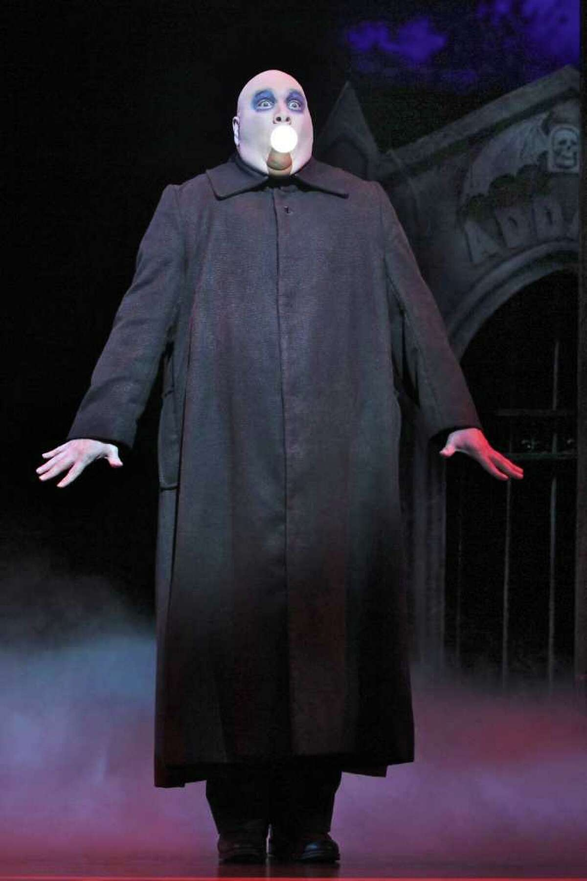 Blake Hammond (Uncle Fester) in THE ADDAMS FAMILY.