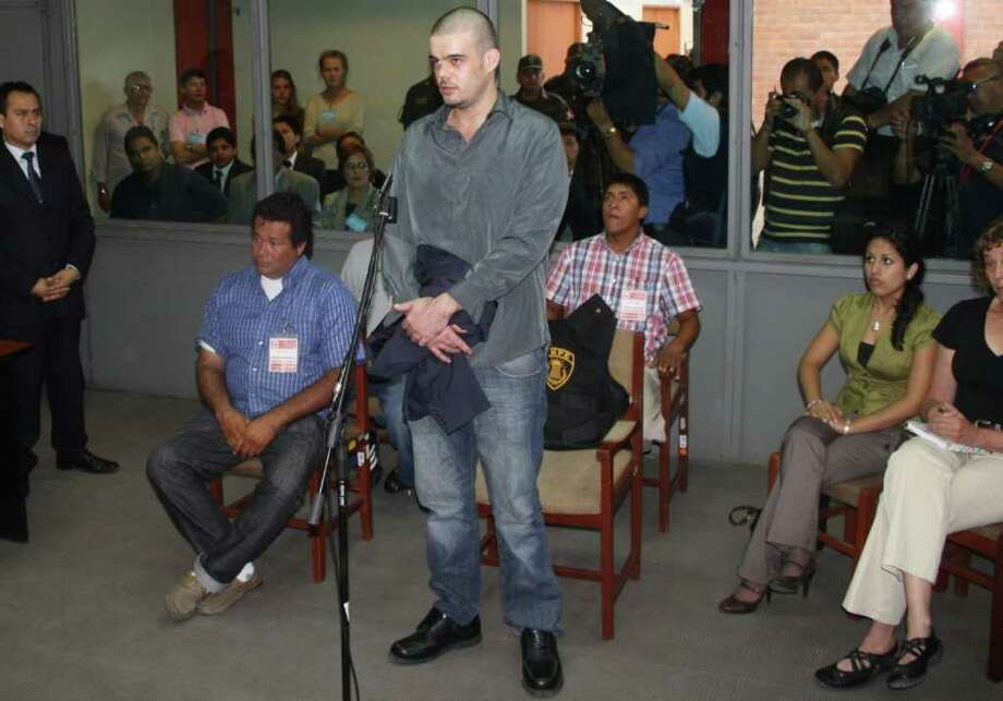 Handout picture released by Andina showing Dutch national Joran Van der Sloot appearing before court at Lurigancho prison in Lima on January 06, 2011. Trial gets in Lima for Van der Sloot, accused of killing Flores in 2010 and who also is a suspect in the disappearance years earlier of an American woman in the Caribbean.   AFP PHOTO/ANDINA    PERU OUT     RESTRICTED TO EDITORIAL USE-NO MARKETING-NO ADVERTISING CAMPAIGNS-MANDATORY CREDIT 'AFP PHOTO/ANDINA' -DISTRIBUTED AS A SERVICE TO CLIENTS Photo: ANDINA, AFP/Getty Images / AFP
