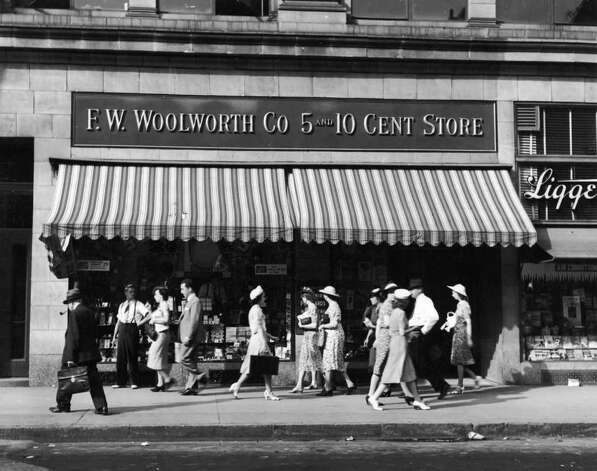 F.W. Woolworth opened its first five and dime store in 1879 and grew to dominate Main Street retailing. But it didn't survive the transition to the shopping mall era. A descendent lives on today: the shoe seller Foot Locker. Photo: Martin Forstenzer, Getty Images / 2002 Getty Images