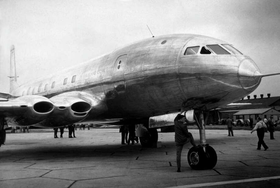 Slow response to technological change wasn't the problem for de  Havilland. The British company rolled out the world's first jetliner,  the Comet, in 1949. But its time atop the industry was painfully short.  Square windows created weak points that led to failures the fuselage  wasn't built to withstand, and Comets literally blew apart in the air.  By the time de Havilland fixed the Comet, Boeing had taken the lead with  its 707.The Comet's main legacy was in its military derivative: the Nimrod,  which the U.K. Royal Air Force is only now getting around to scrapping.  As for de Havilland, it was subsumed into Hawker Siddeley, which became  part of BAE Systems. There still are quite a few de Havilland seaplanes  in commercial service. Photo: J. A. Hampton, Getty Images / Hulton Archive