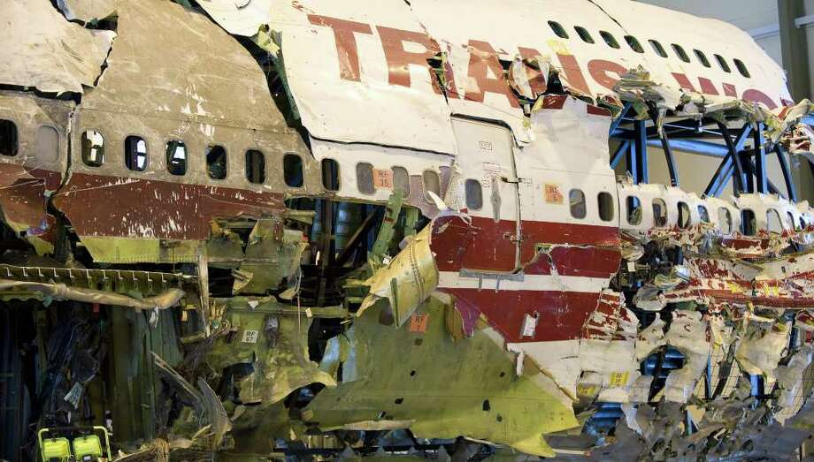 Like Pan Am, TWA lost ground in the deregulated airline world of the  late 20th century. Then, on July 17, 1996, a TWA 747 exploded shortly  after taking off from JFK, killing all 230 people on board. The  investigation found that the probable cause was an explosion of a  flammable fuel/air mixture in the center wing fuel tank, most likely  ignited by a short circuit. TWA subsequently tried and failed to  reinvigorate itself, and merged into American Airlines in 2001. Photo: PAUL J. RICHARDS, AFP/Getty Images / 2008 AFP