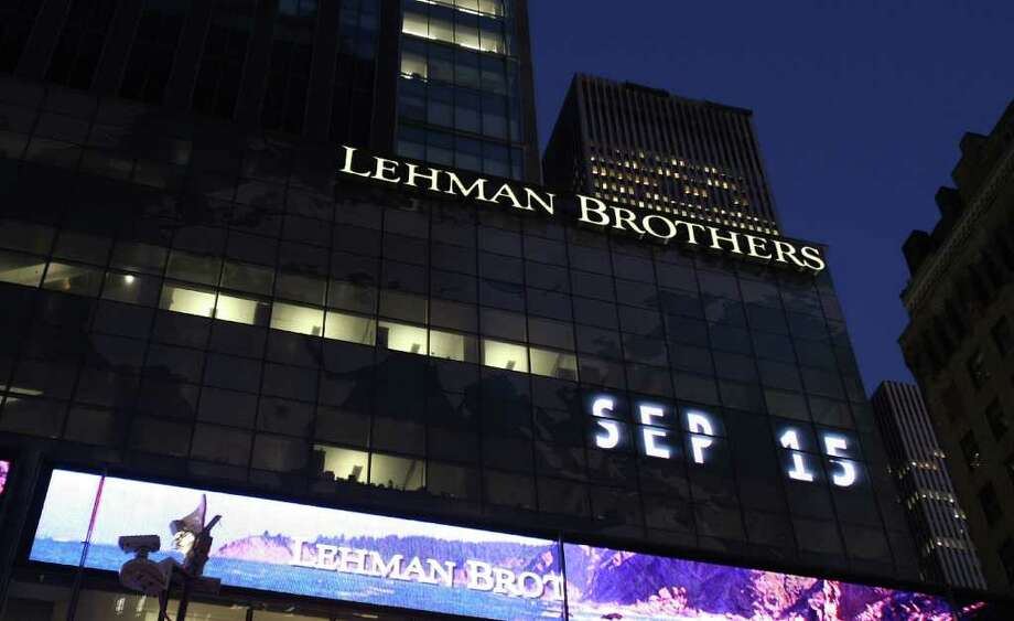 Exposure to lousy subprime mortgages also did in Lehman Brothers  Holdings Inc., a venerable investment bank that declared bankruptcy on  Sept. 15, 2008, after a century and a half in business. Photo: Mario Tama, Getty Images / 2008 Getty Images