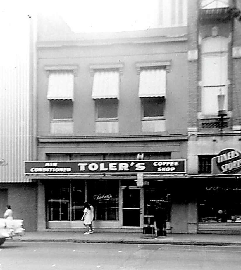 "East side of Soledad Street, across from Main Plaza. We frequently dined at Toler's, largely because of its inexpensive menu. My parents took to calling the place ""Sidney's,"" after Sidney Toler, who was one of the actors who played Charlie Chan. Photo: Kolarik / To be published ONLY on the iPad edition."