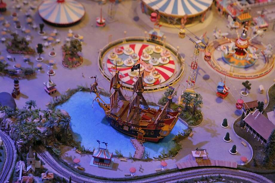 "A detail of ""Disneyland of Walts Imagination"", a model by Kerner Optical, at the Walt Disney Family Museum in San Francisco, Calif. on Friday, Sept. 9, 2011.  The model contains concepts developed by Walt Disney between 1955-70, some of which were never fully realized. Photo: Dylan Entelis, The Chronicle"