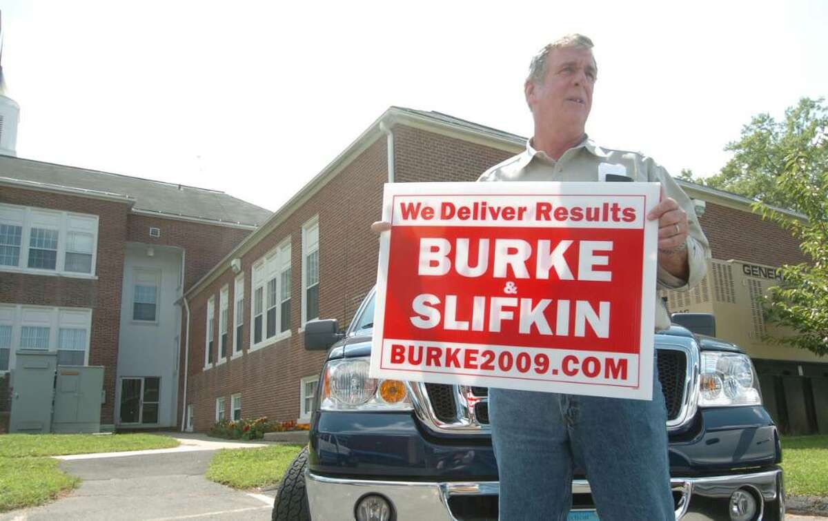 Bethel First Selectman Bob Burke, from Bethel, chats about his arrest August 25, 2009.