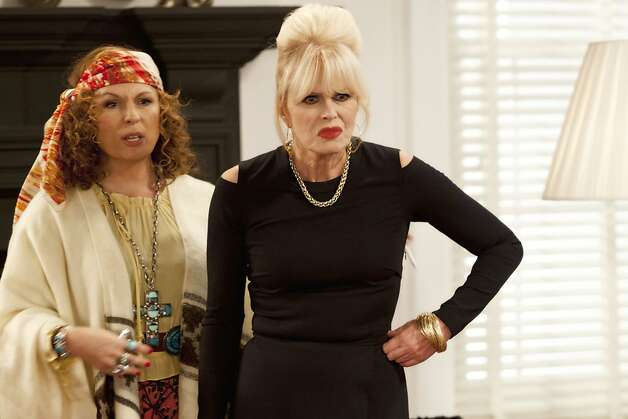 "Edina (JENNIFER SAUNDERS) & Patsy (JOANNA LUMLEY) will reprise their roles in three, ""Absolutely Fabulous,"" 20th anniversary specials. Photo: Jack Barnes, BBC"