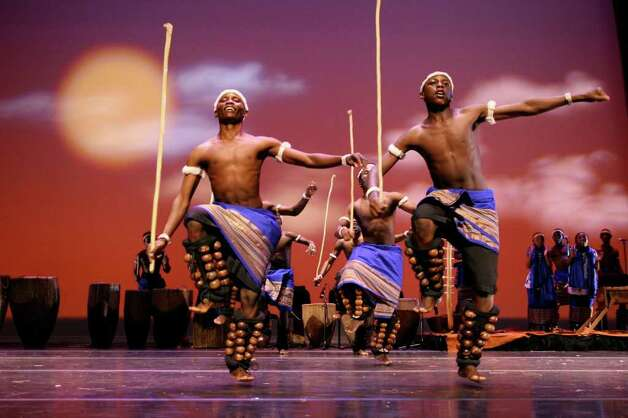 Spirit of Uganda will perform at the Carver Community Cultural Center. Courtesy of the Carver Community Cultural Center / SA