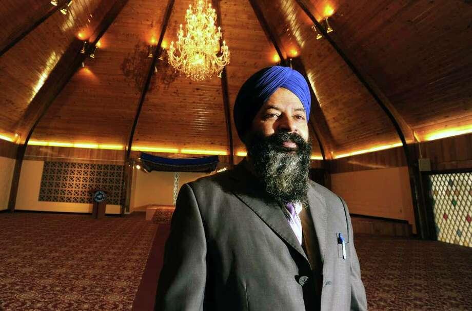 Temple president Sukdev Singh stands inside Sikh Temple Guru Nanak Darbar Wednesday, Jan 4, 2012 in Niskayuna, N.Y.  (Lori Van Buren / Times Union) Photo: Lori Van Buren