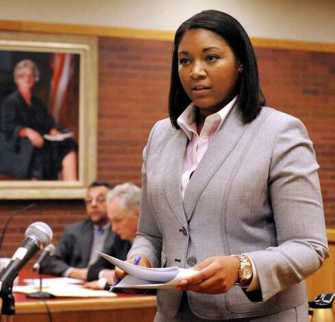 Assistant State's Attorney Sharmese Hodge is the prosecutor in the trial of Danbury businessman Joseph DaSilva Jr. in state Superior Court in Danbury. Photo: Michael Duffy