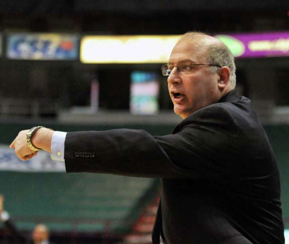 Siena coach during their MAAC game against Fairfield at the Times Union Center in Albany Friday Jan. 6, 2012.   (John Carl D'Annibale / Times Union) Photo: John Carl D'Annibale / 00015373F