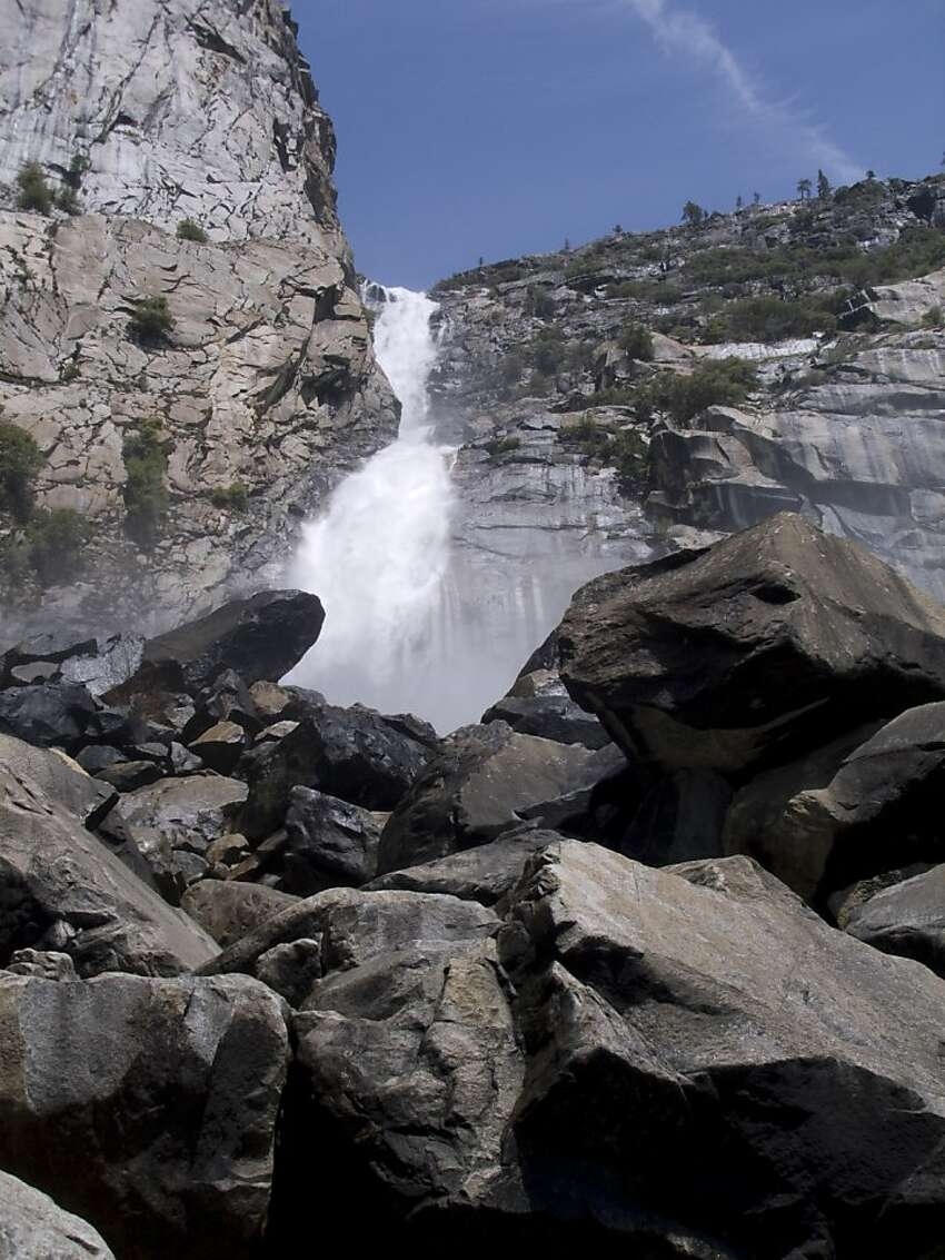 A 5-mile roundtrip hike in Hetch Hetchy comes with a big payoff - a waterfall certain to mist (or drench, depending on the season) sweat-soaked hikers. Find the trailhead atO'Shaughnessy Dam and be sure to cross Falls Creek Bridge for a natural shower from Wapama Falls.