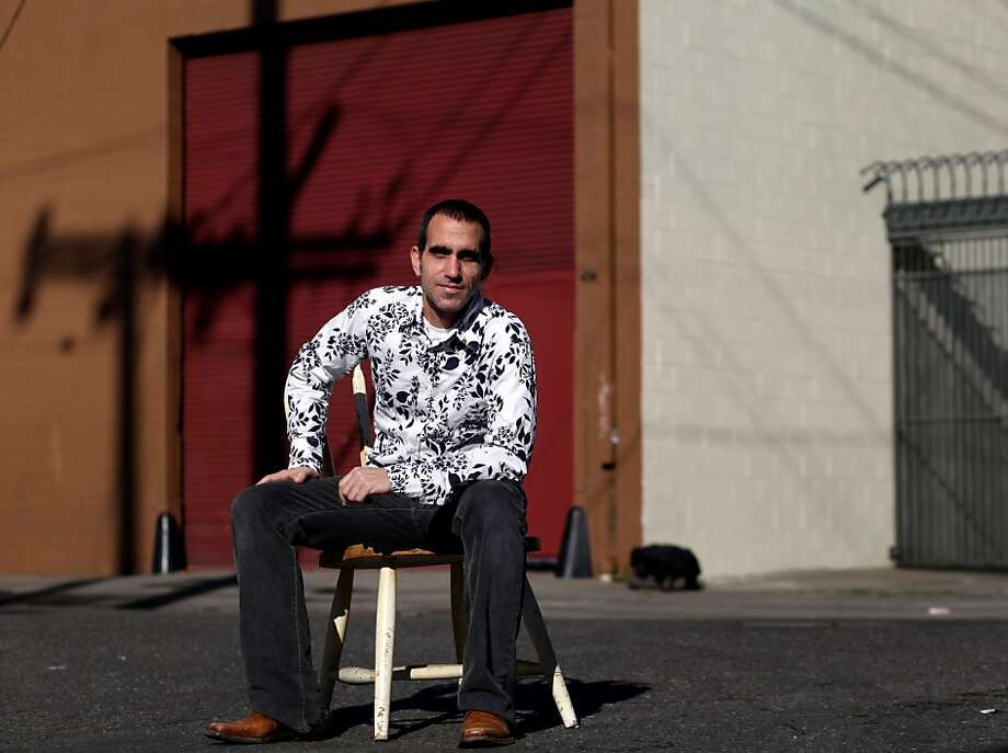 Moses Ceaser, one of the new owners of the new Parkway Theater sits outside of the movie house's new location, Wednesday January 4, 2012, in Oakland, Calif. After three years, Oakland's beloved movie house will be re-opening within the year. Photo: Lacy Atkins, The Chronicle