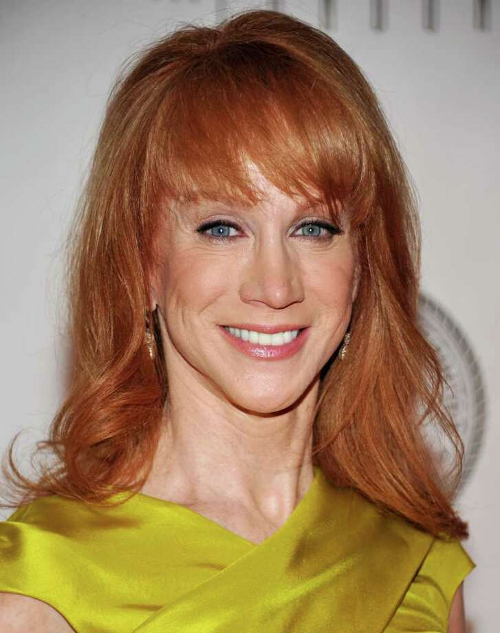 Kathy Griffin attends the Quentin Tarantino Friars Club Roast at the New York Hilton Hotel in New York in 2012 . C Photo: AP