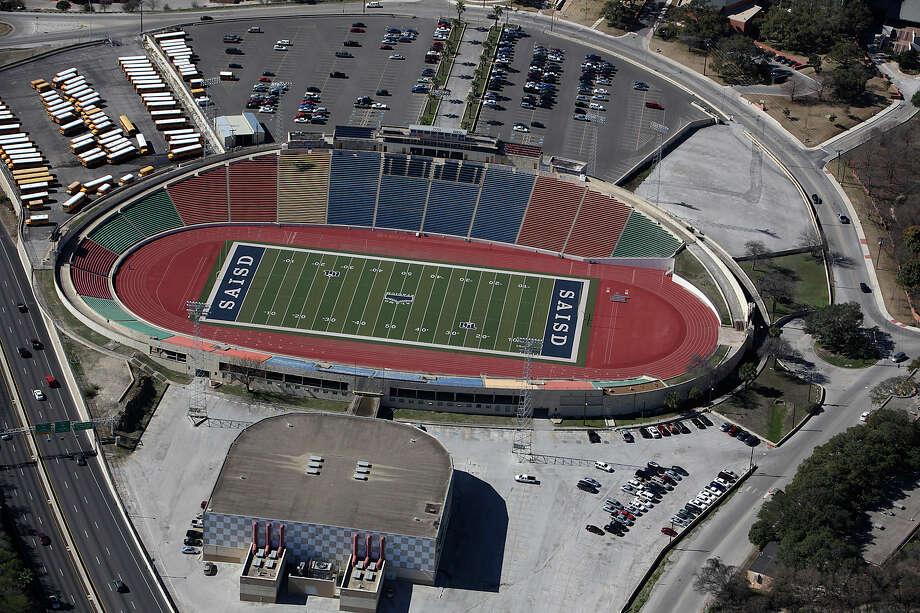 Aerial of Alamo Stadium