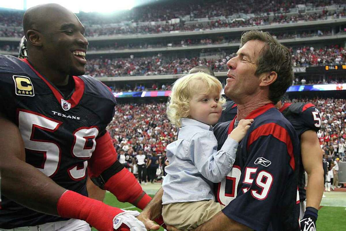 Dennis QuaidActor Dennis Quaid, who is from Bellaire, supports the Texans.