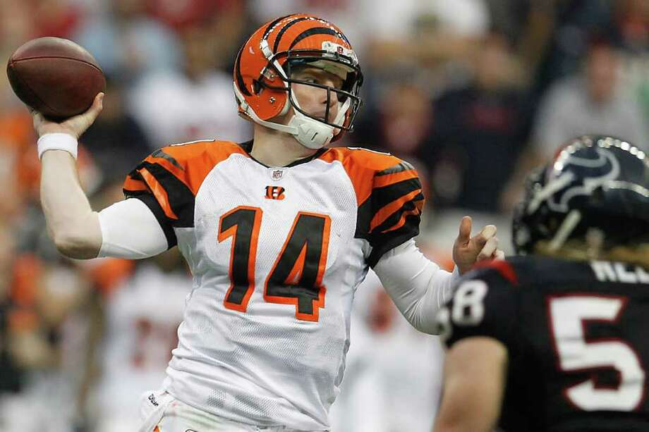 After a successful career at Katy High School, Andy Dalton played four years at TCU. He owns the school records for touchdowns, passing yards, wins and several others. He was drafted by the Cincinnati Bengals in 2011. Photo: Karen Warren, Houston Chronicle / © 2012  Houston Chronicle