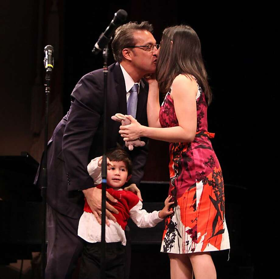 Sheriff Ross Mirkarimi, son Theo and wife Eliana Lopez. Photo: Lacy Atkins, The Chronicle