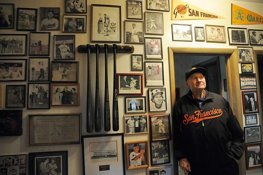 EASLEY, SC - JANUARY 6: Former Giants player and manager Alvin Dark with some of his collected memorabilia at his home in Easley, South Carolina on Friday, January 6, 2012. Dark, who turns 90 on Jan. 7th., was also manager of the Oakland Athletics.  PHOTO CREDIT: ERIK S. LESSER FOR SAN FRANCISCO CHRONICLE Photo: Erik S. Lesser, SAN FRANCISCO CHRONICLE