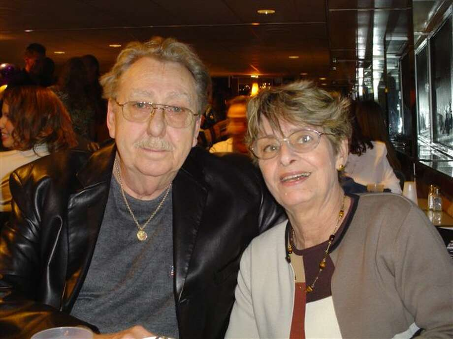 Artist John King and his wife, Ursula King, at a party for their 50th anniversary two months before his death in December 2005