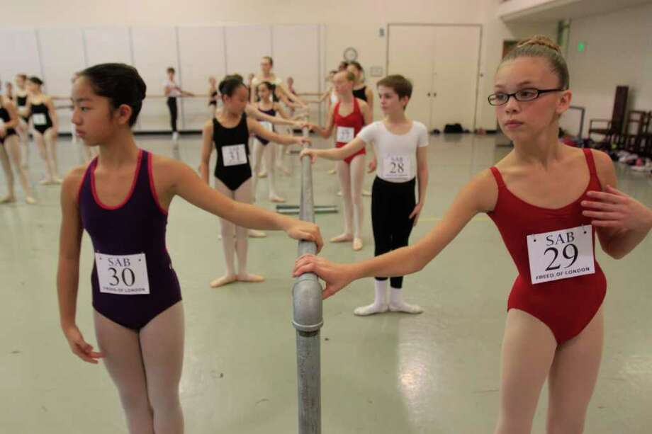 Hundreds of young ballet dancers try out for 200 spots in a five-week summer program at The School of American Ballet on Sunday. The School of American Ballet of New York city is currently on a 20-city tour auditioning over 2,000 dancers for 200 spots. Photo: SOFIA JARAMILLO / SEATTLEPI.COM