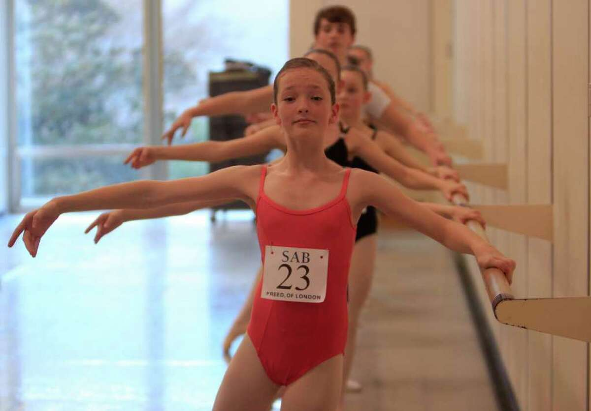 Ali Prevost-Reilly, age 13, auditions for the School of American Ballet's five-week summer program. Only 200 of the 2,000 auditioners will be chosen for a five-week summer program at the School of American Ballet in New York City.