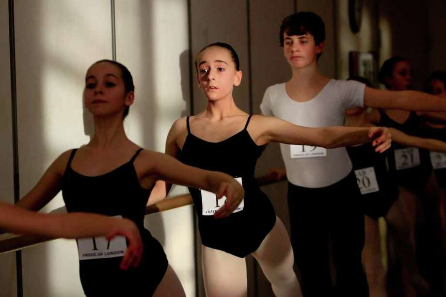 Hundreds of young ballet dancers try out for 200 spots in a five-week summer program at The School of American Ballet in New York city. The School of American Ballet from New York city is currently on a 20-city tour auditioning over 2,000 dancers for 200 spots. Photo: SOFIA JARAMILLO / SEATTLEPI.COM