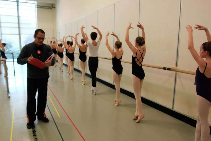 School of American Ballet instructor Jock Soto evaluates dancers at Pacific Northwest Ballet in Seat