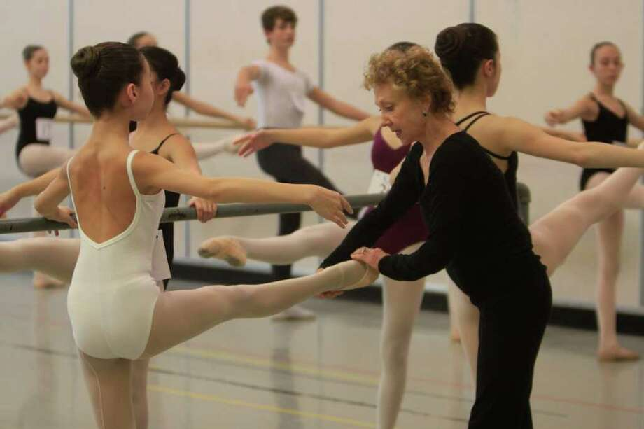 Suki Schorer, a teacher with the School of American Ballet, instructs a young dancer during tryouts at Pacific Northwest Ballet in Seattle . Photo: Sofia Jaramillo / SEATTLEPI.COM