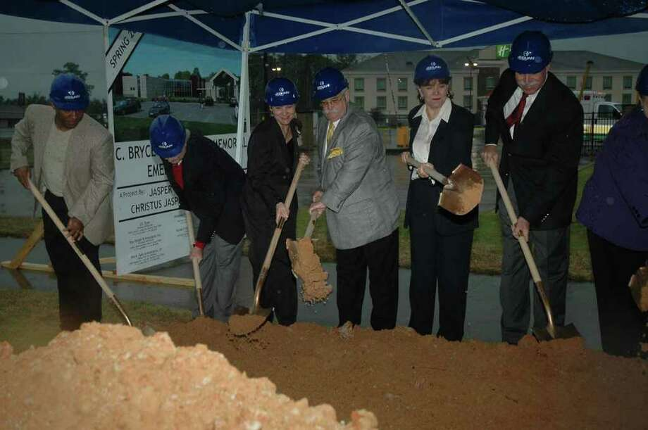 Ground breaking ceremonies for the C. Bryce Thomas M.D. Memorial Emergency Center held Monday, Jan. 9. Photo: Jimmy Galvan
