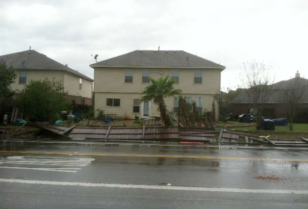 Fences near Sugar Land were hit by a tornado on Monday, Jan. 9, 2011. Photo: (James Nielsen / Chronicle)
