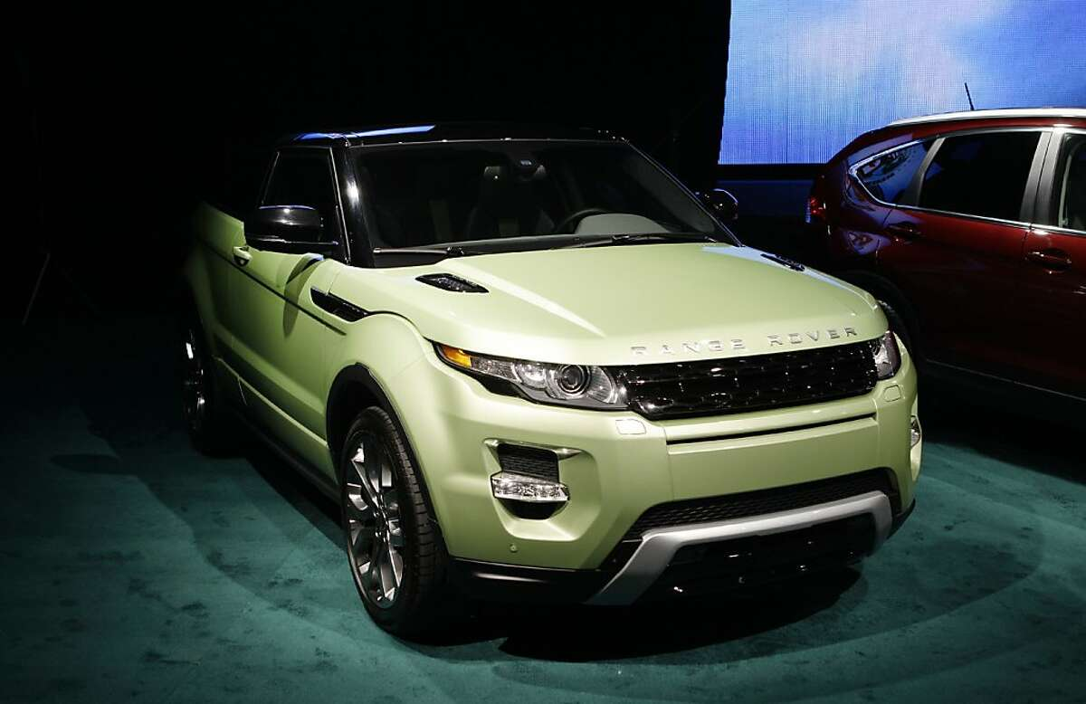 The Land Rover Range Rover Evoque is shown at the North American International Auto Show in Detroit, Monday, Jan. 9, 2012. The Land Rover Range Rover Evoque won the North American Truck of the Year, beating the BMW X3 and Honda CR-V. (AP Photo/Paul Sancya)