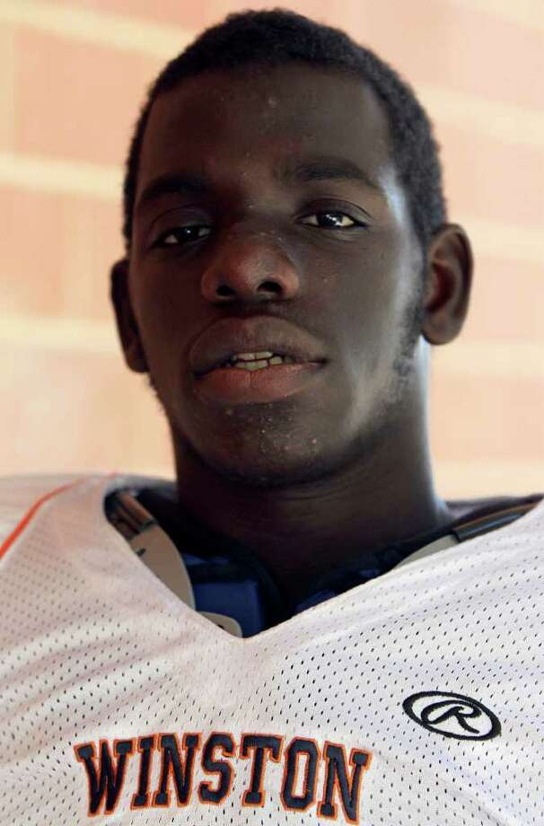LaJordan Wilkerson is the leading rusher in the city and plays for the Winston school which has a six-man team. LaJordan is the brother of Jerrell Wilkerson who holds the city rushing record during his years at Clark. Photo: JOHN DAVENPORT, SAN ANTONIO EXPRESS-NEWS / jdavenport@express-news.net