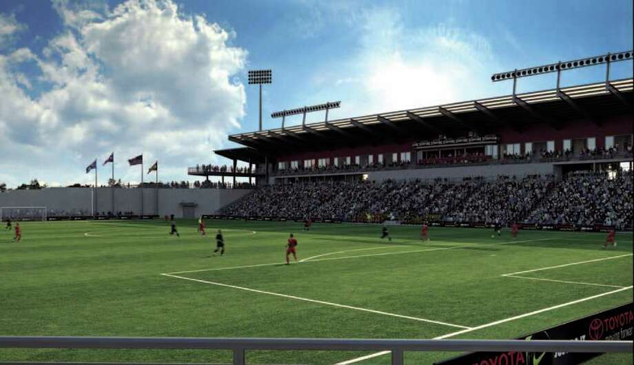 Franchise owner Gordon Hartman is going ahead with his plans for a stadium for his San Antonio Scorpions soccer team.