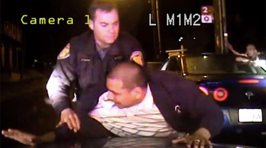 A still taken from video taken by a Seattle Police in-car video system.